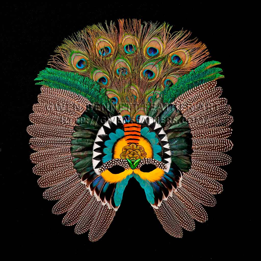 Feather Mask Guinea Wing Mask