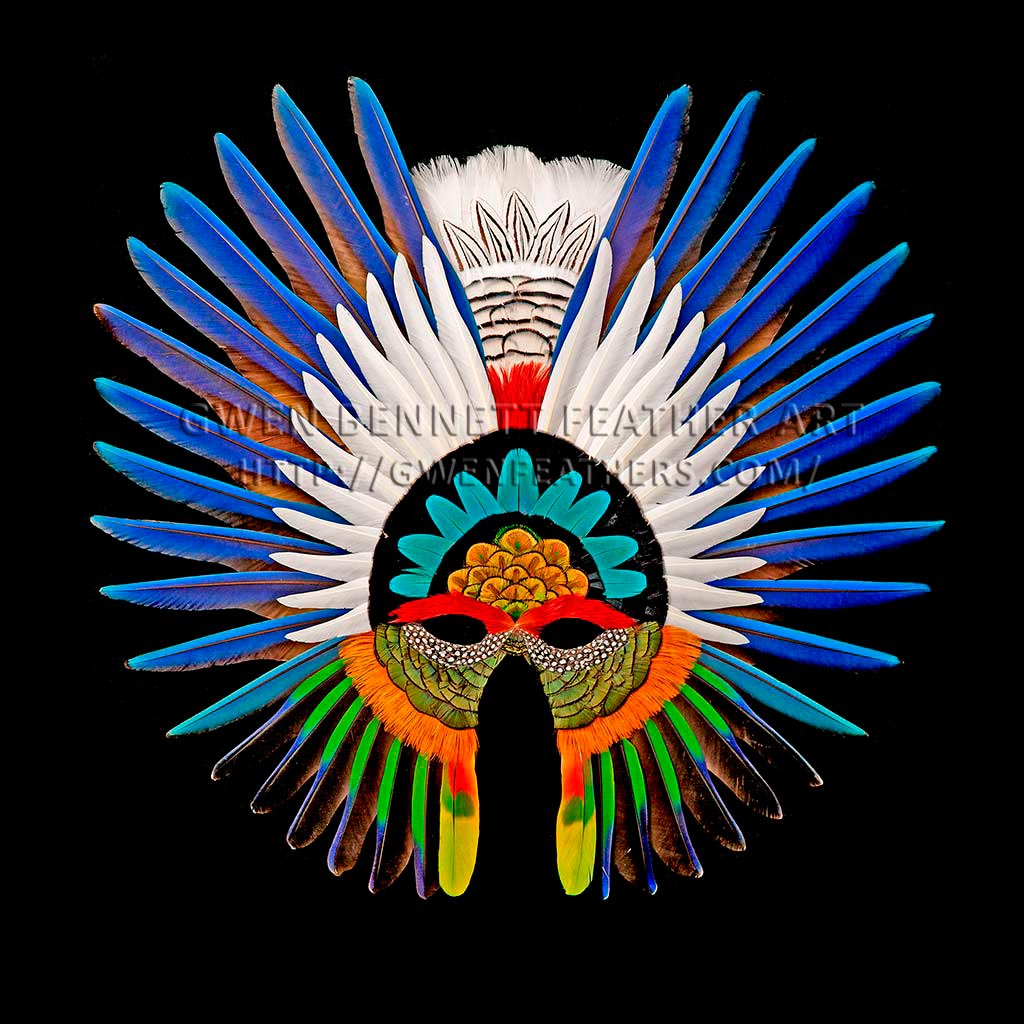 Feather Mask Symmetrical Macaw Wing Mask