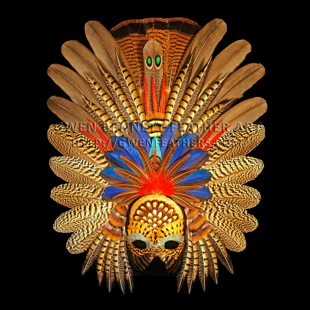 Feather Mask Zapotec Mask