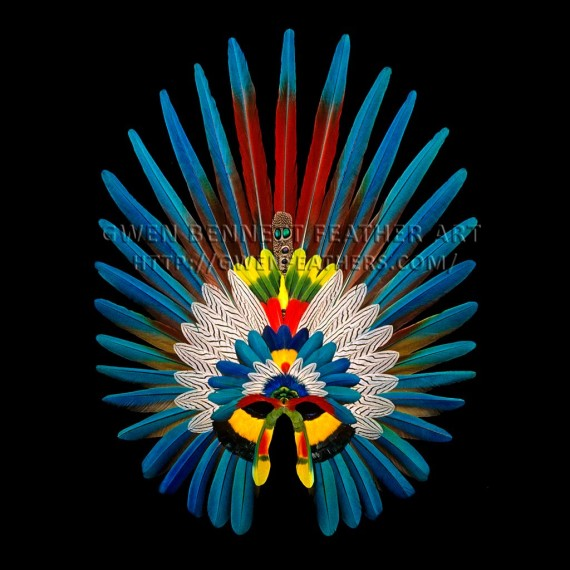 Feather Mask Scarlet Macaw Mask