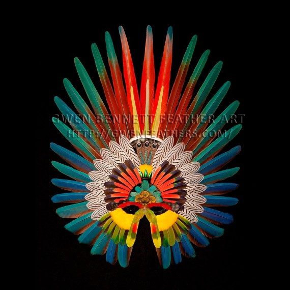 Feather Mask Scarlet Silver Macaw Mask